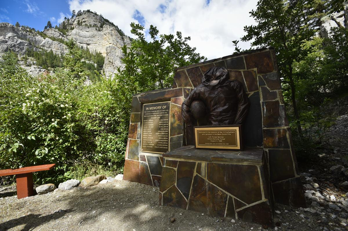 A memorial to the smokejumpers