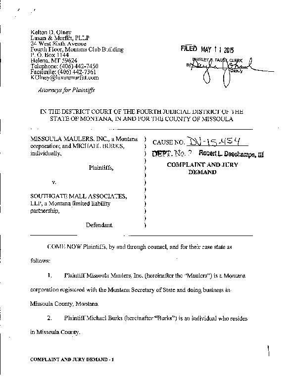 Michael Burks lawsuit