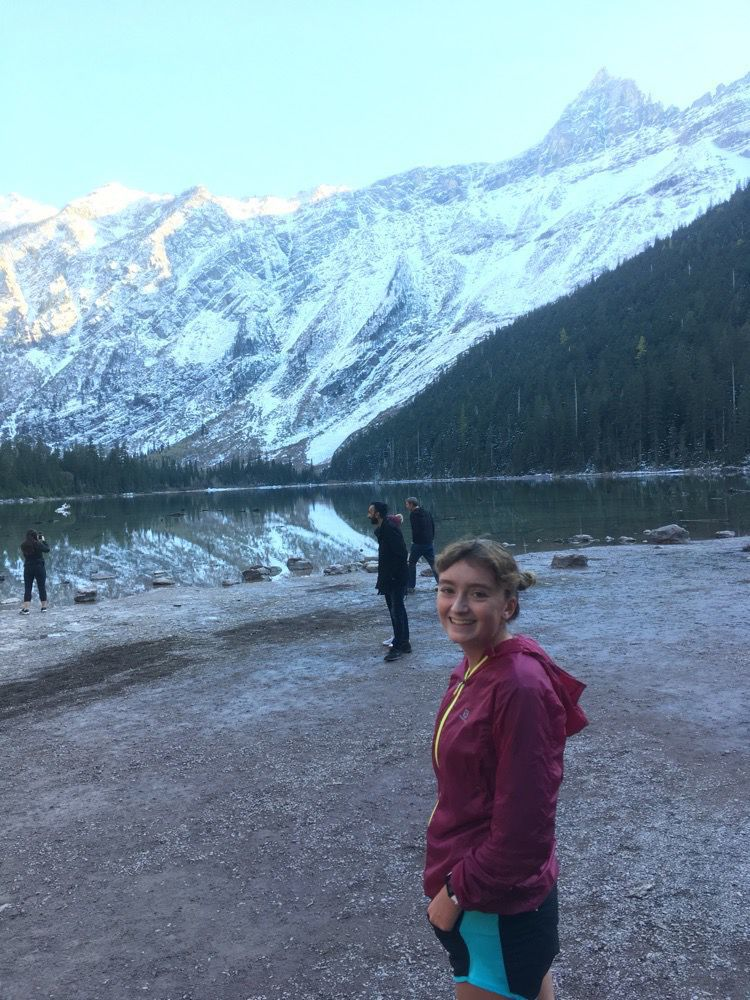 Kimberly Peacock at Avalanche Lake
