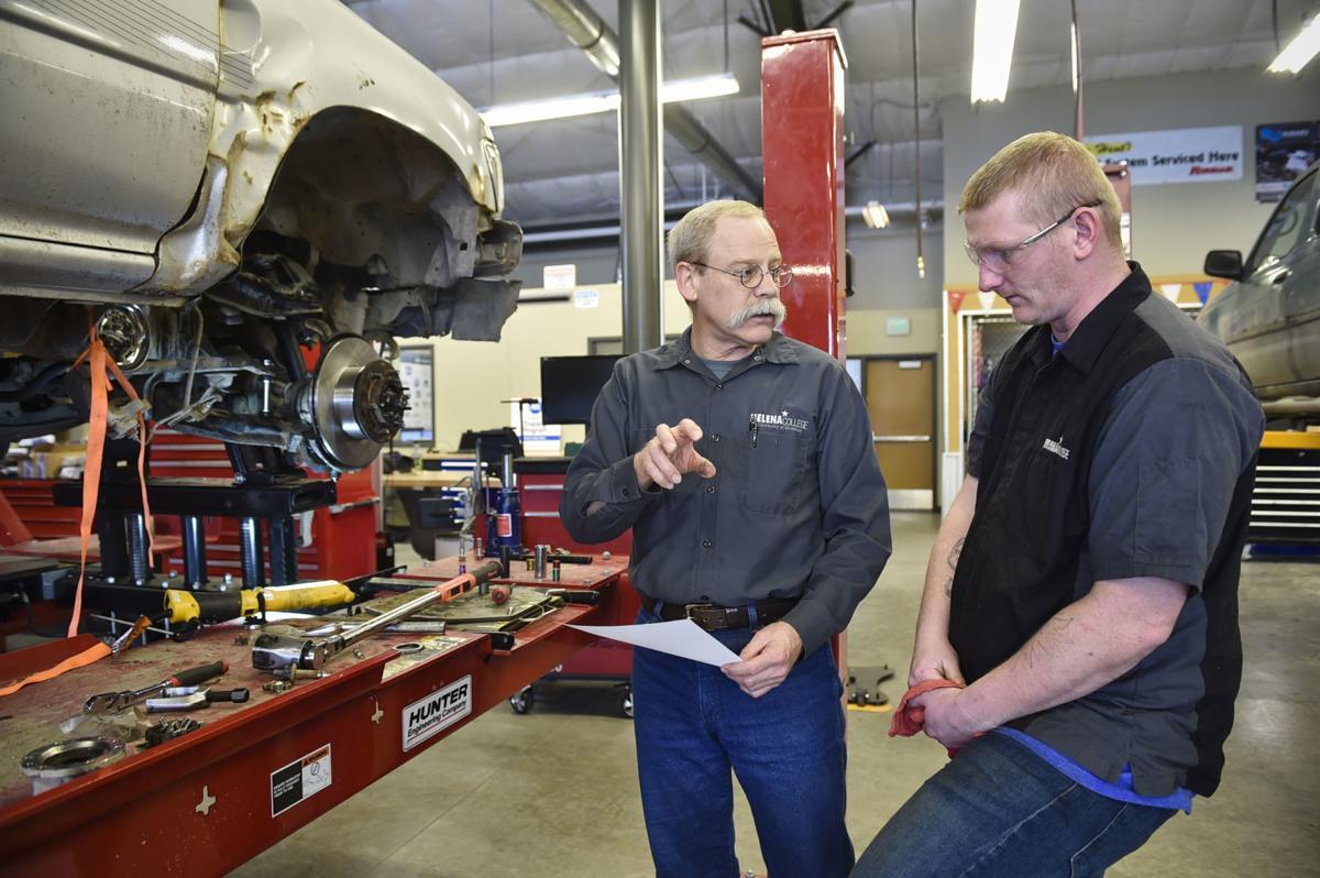 Dave Jones, Helena College's automotive teacher,