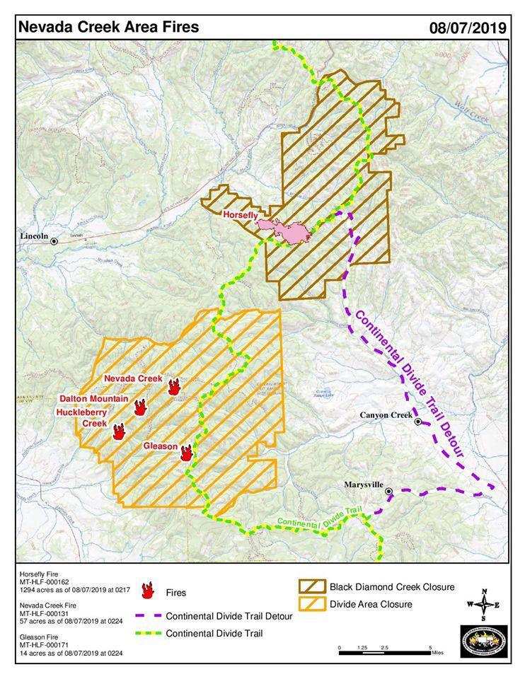 Horsefly Closure Map
