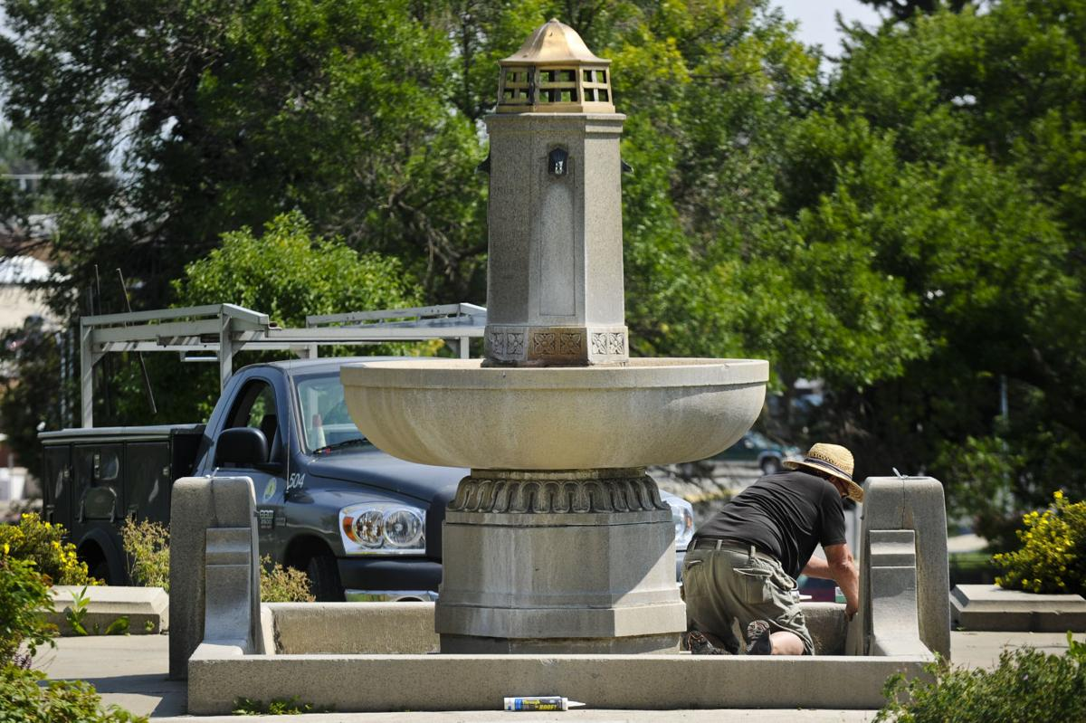 Confederate fountain maintenance