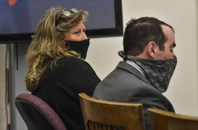 Maureen Therese Doubek, 60, of Helena, listens to testimony during her trial on Wednesday. (copy)