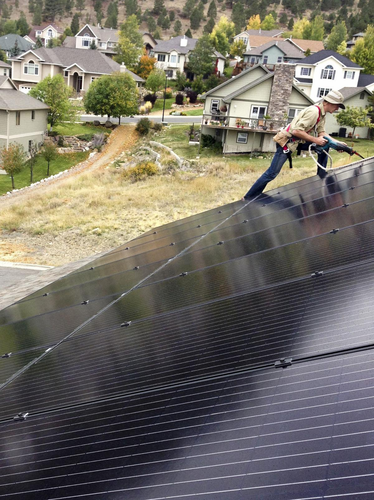 Solar Montana unit installation