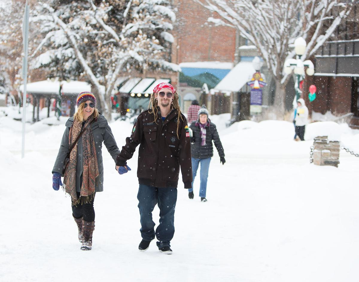 Winter on the Walking Mall