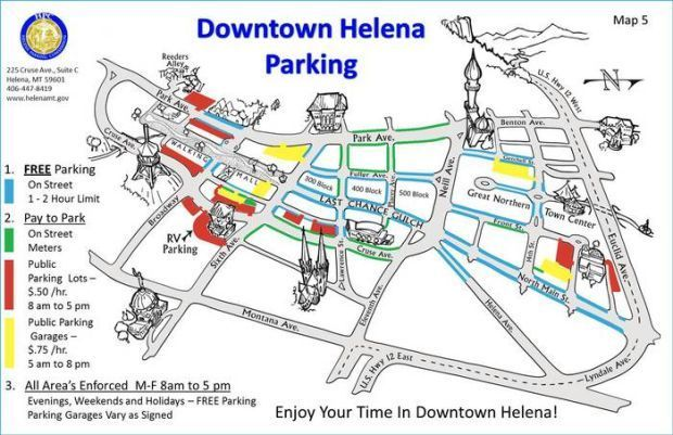 Downtown Helena parking map helenaircom