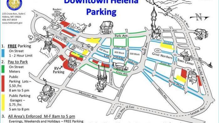 Downtown Helena Parking Map Helenair Com