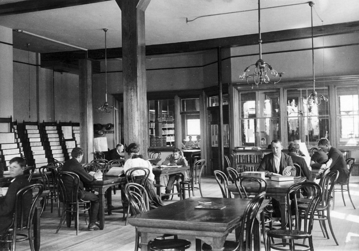 Helena Public Library reading room in June of 1897.