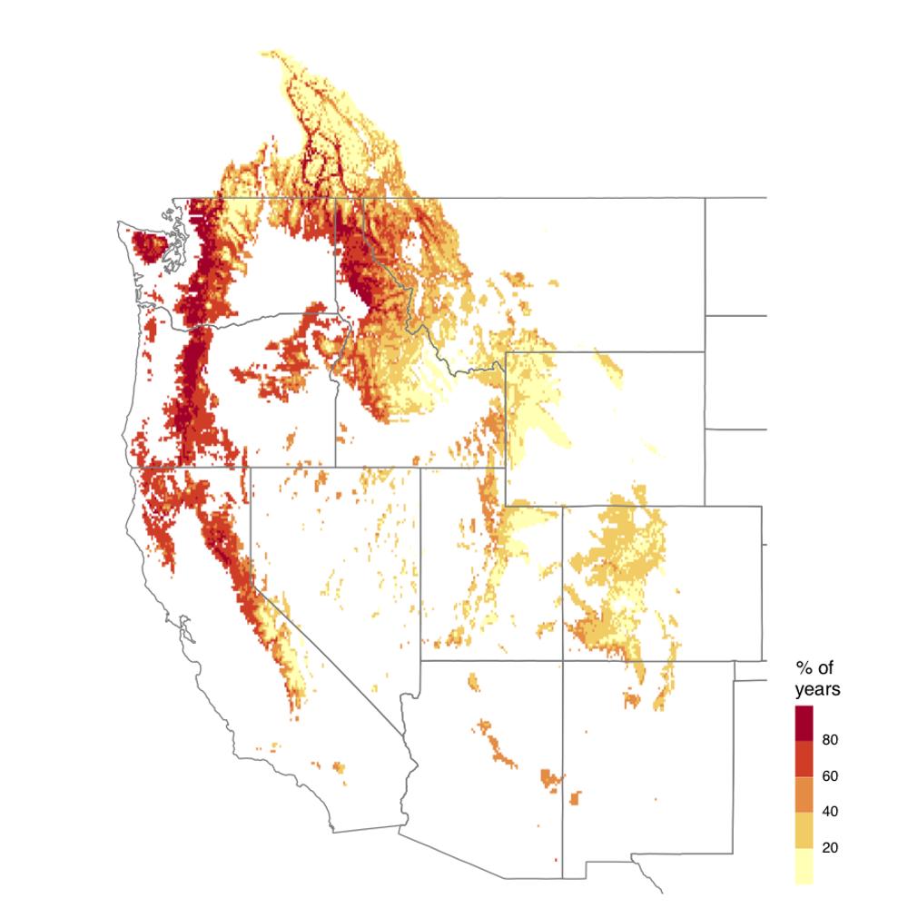 Snow drought prediction