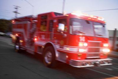 Emergency icon fire truck
