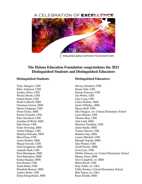 List of Distinguished Students and Educators