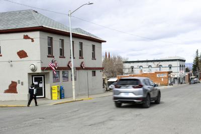 A car drives down Rodney St. on Monday.