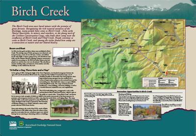 Birch Creek Orientation Sign