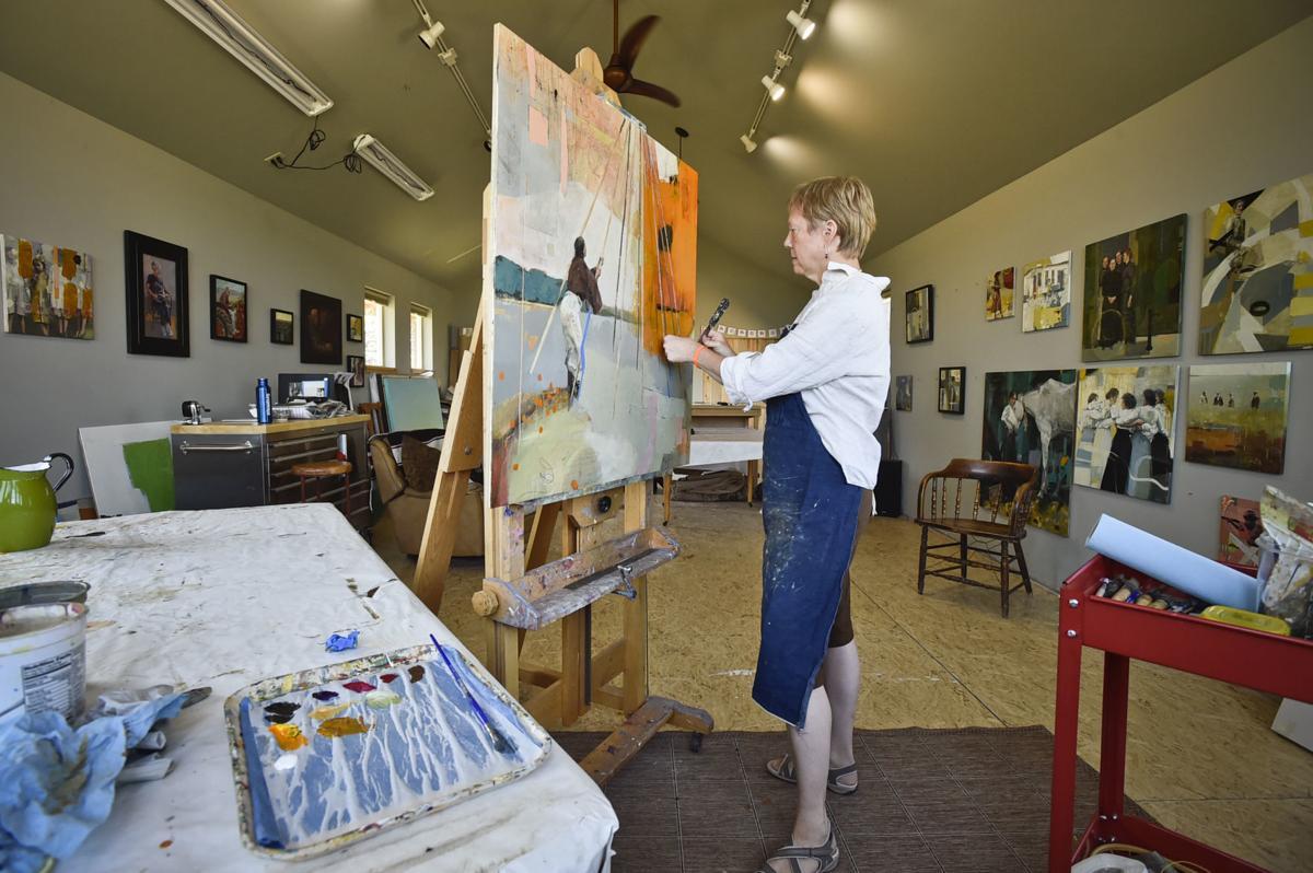 Amy Brakeman Livezey at work