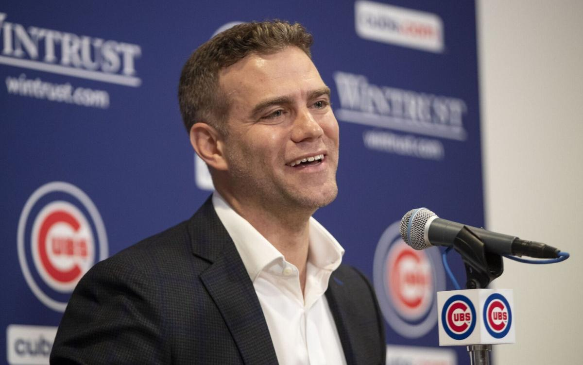 Theo Epstein speaks at his season-ending press conference on Sept. 30, 2019 at Wrigley Field.
