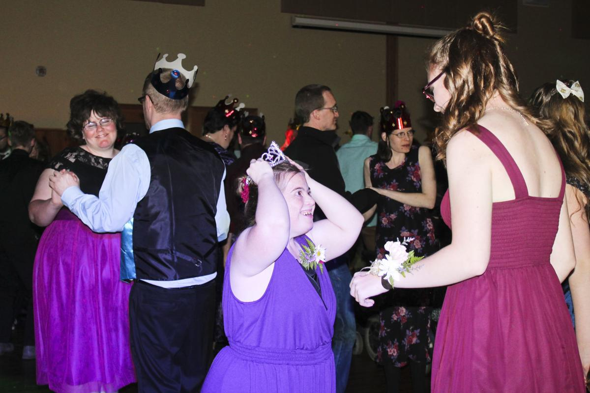 Prom attendees dance together during last year's Dance with the Stars