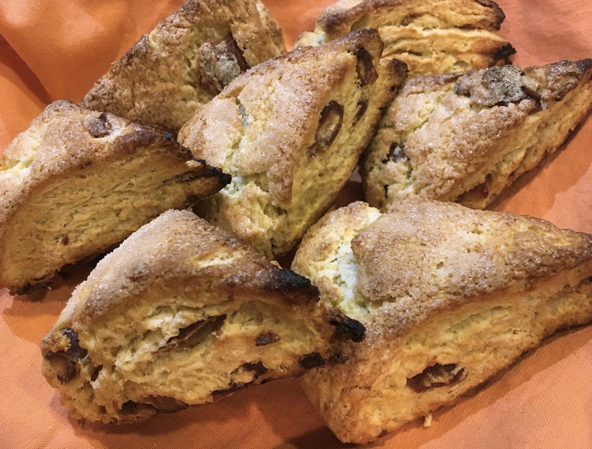 Date cream scones
