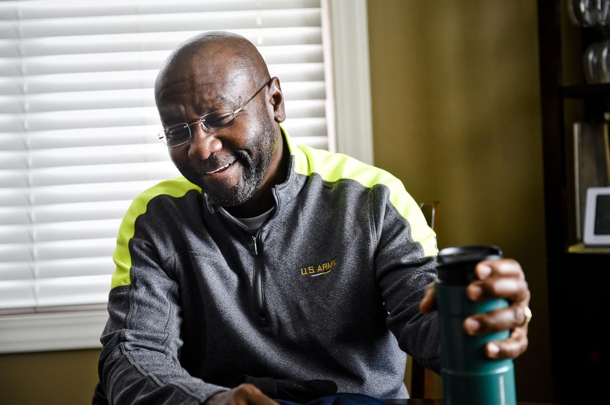 Wilmot Collins, 54, jokes in his Helena home Wednesday afternoon.