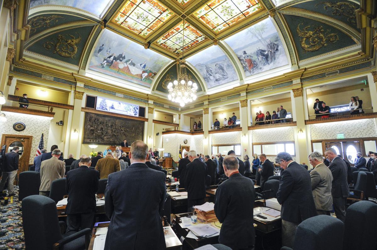 Legislators on the Senate floor