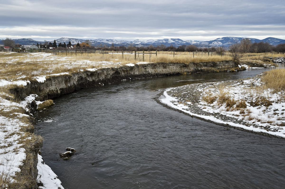 A section of Prickly Pear Creek yet to be improved