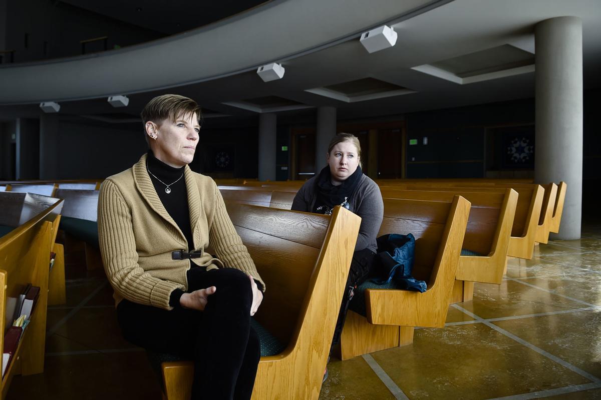 Helena Methodist pastors Patti Agnew, left, and Sami Pack-Toner