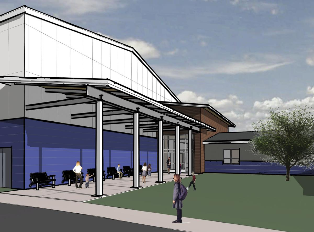 A CWG Architects rendering of a new East Helena School.