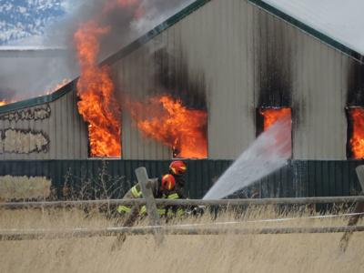 helena area saddle shop containing rabbits and chickens destroyed by
