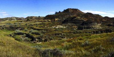 Ranch land in the proposed Horse Creek conservation easement near Glendive, Mont.