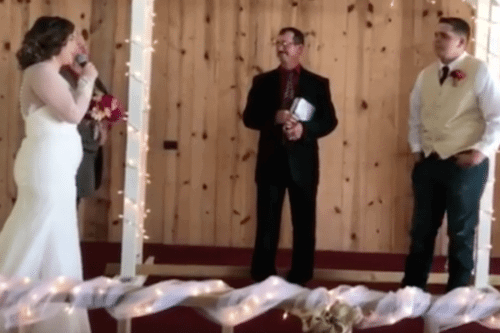 This Bride Sang To Her Groom As She Walked Down The Aisle