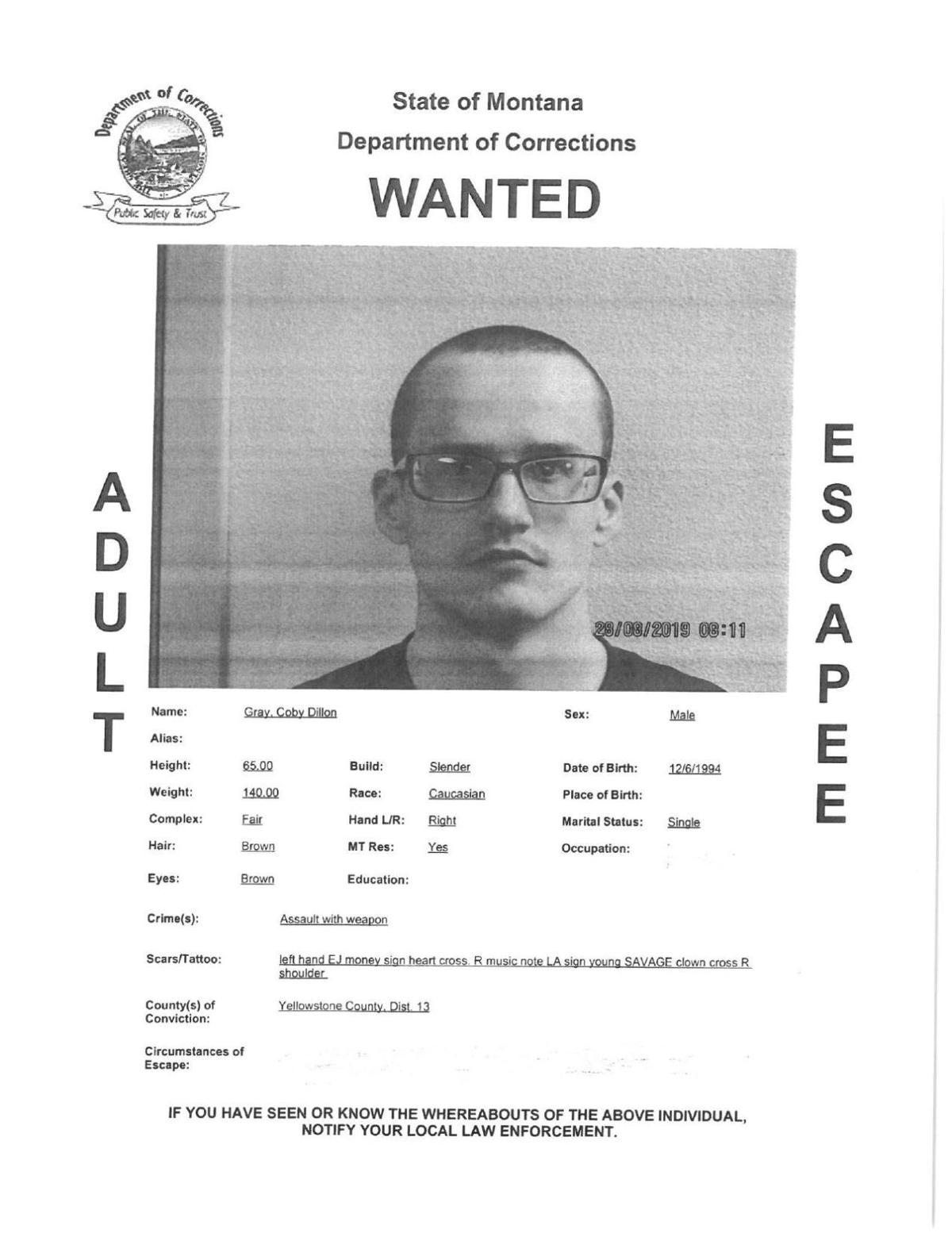 Coby Gray Wanted Poster