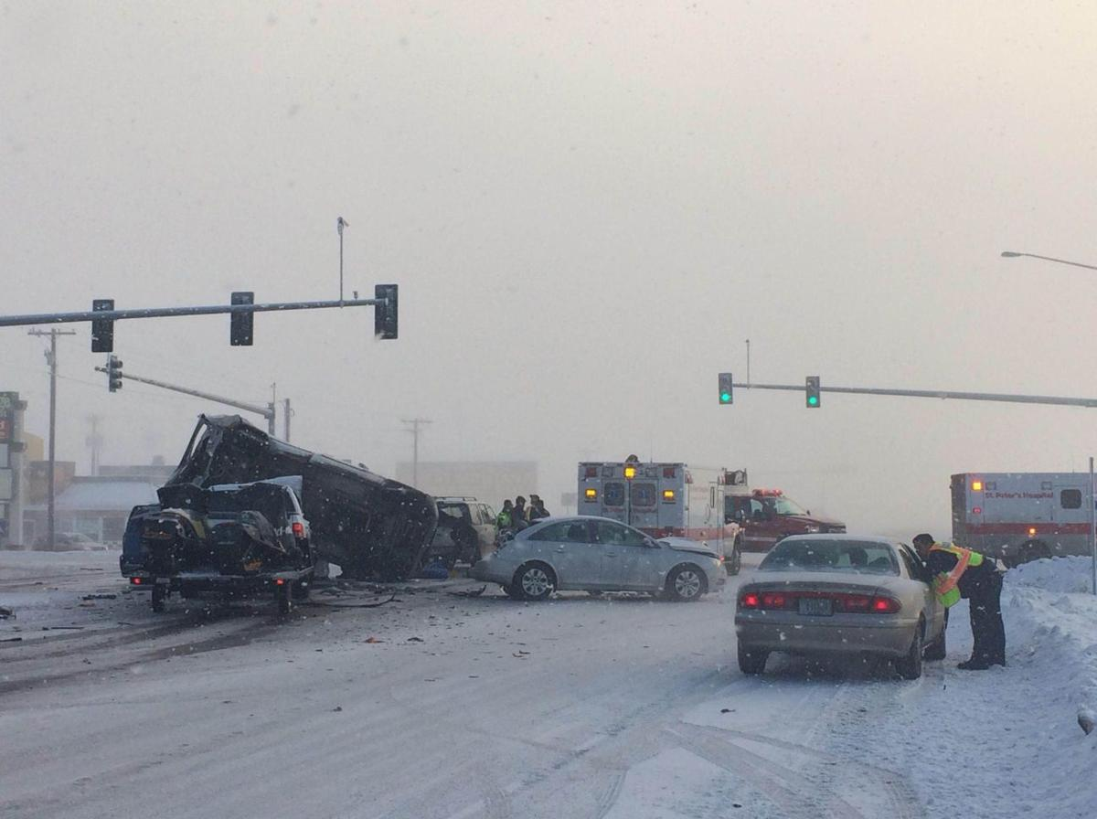Crash on 84th and Fremont sends two to hospital