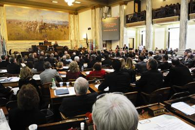The Montana state House of Representatives.