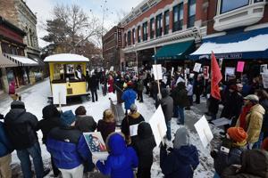 Helena demonstrators object to travel ban