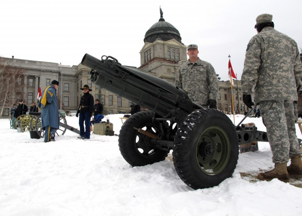 Members of the 89th Cavalry Montana National Guard and the 2nd U.S. Cavalry
