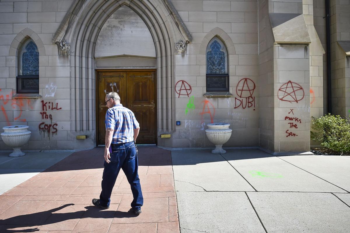 Cathedral Vandalism