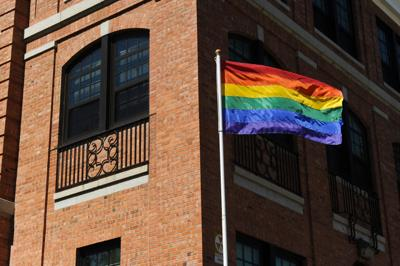 Gay Pride Flag at VA