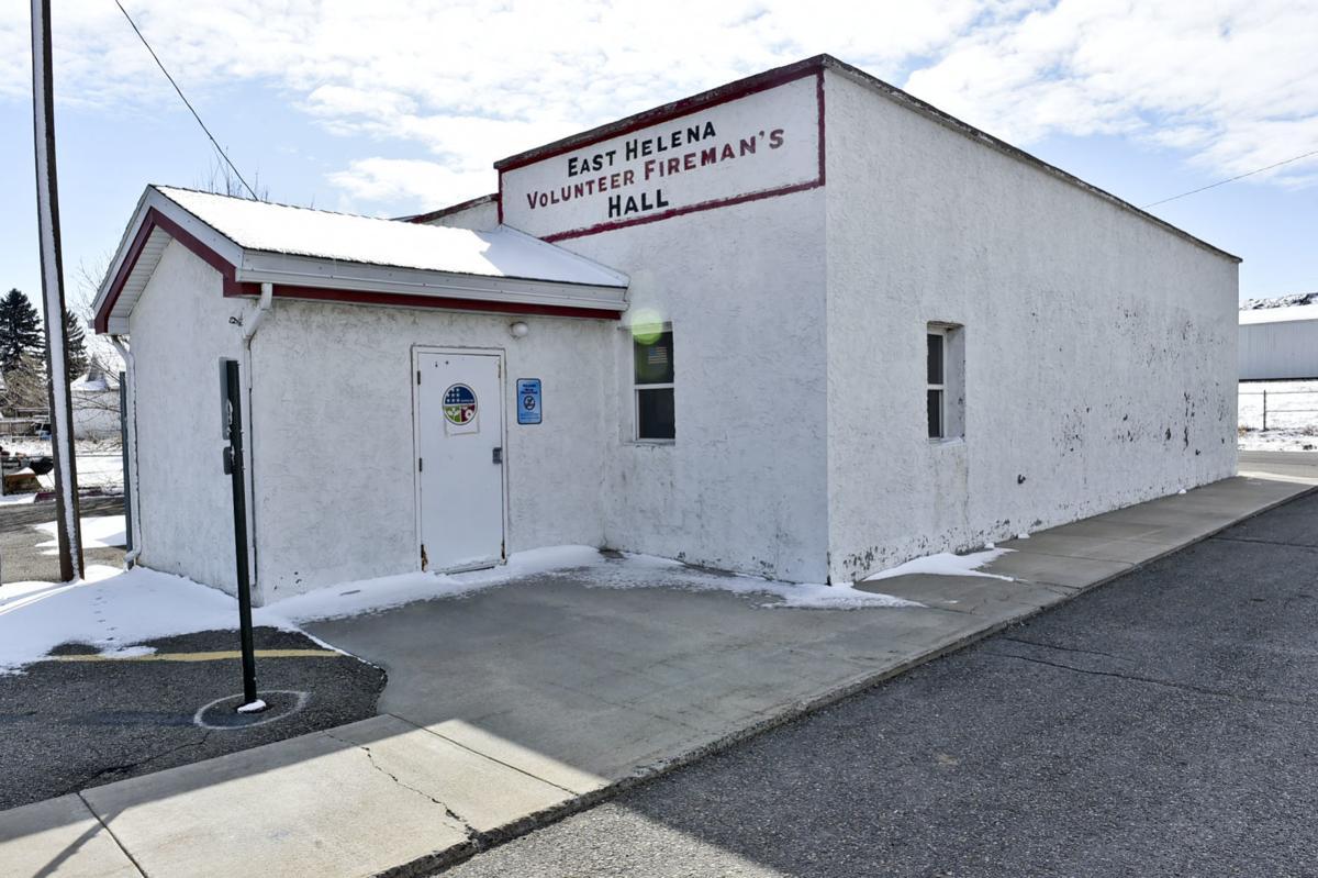 The historic East Helena Volunteer Fire Hall