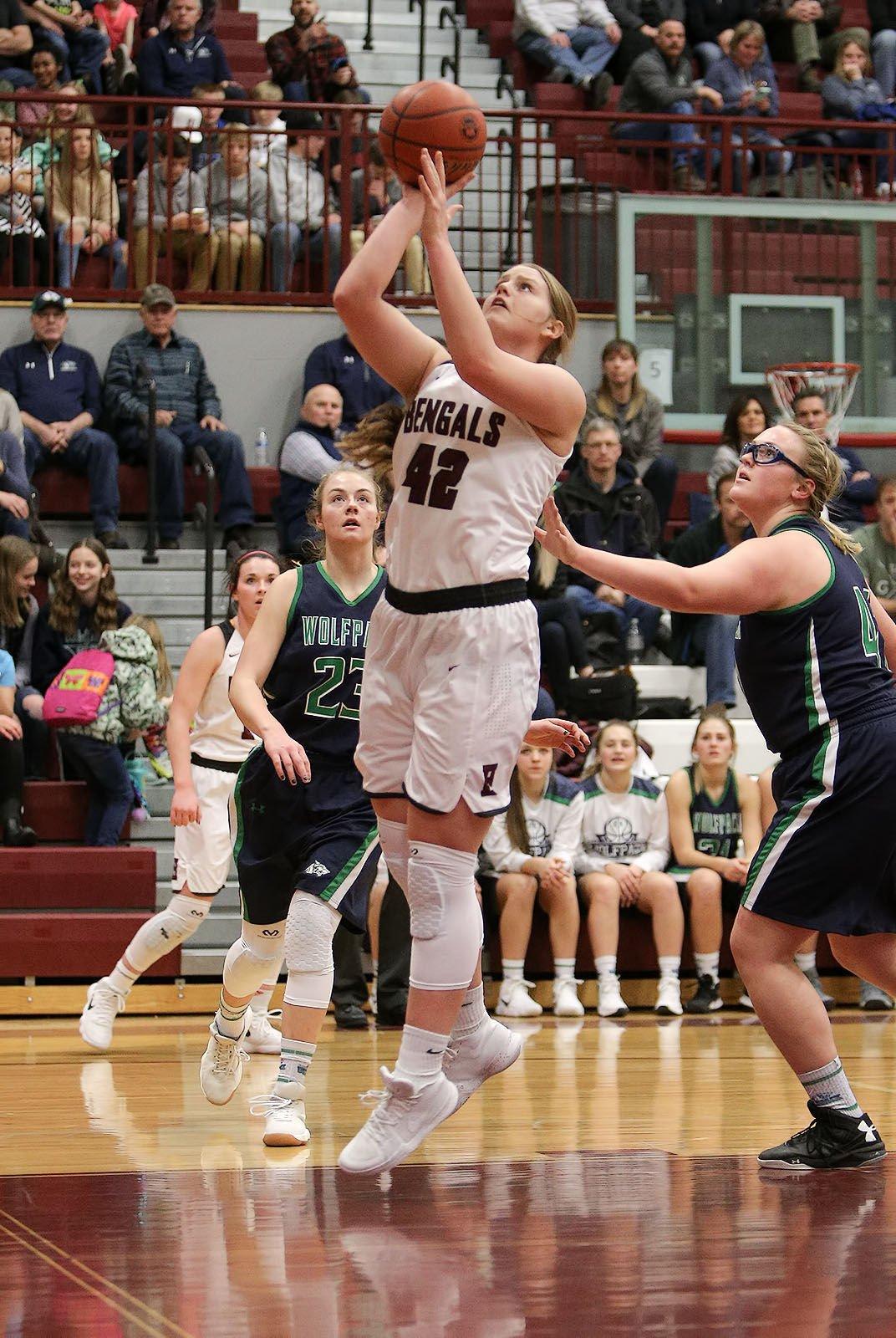 girls basketball; HHS vs Glacier