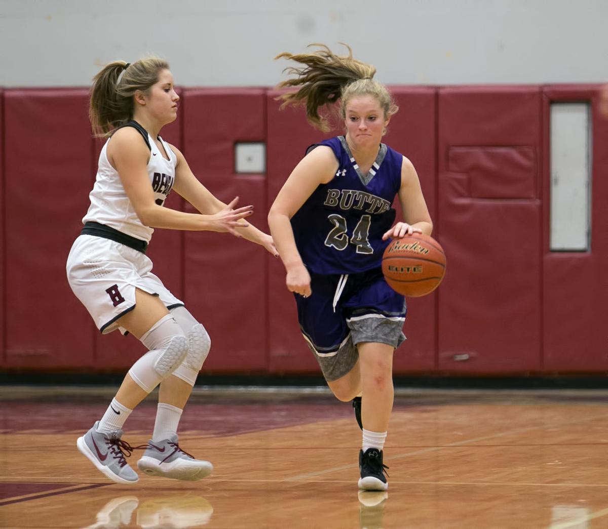 girls basketball; HHS vs Butte