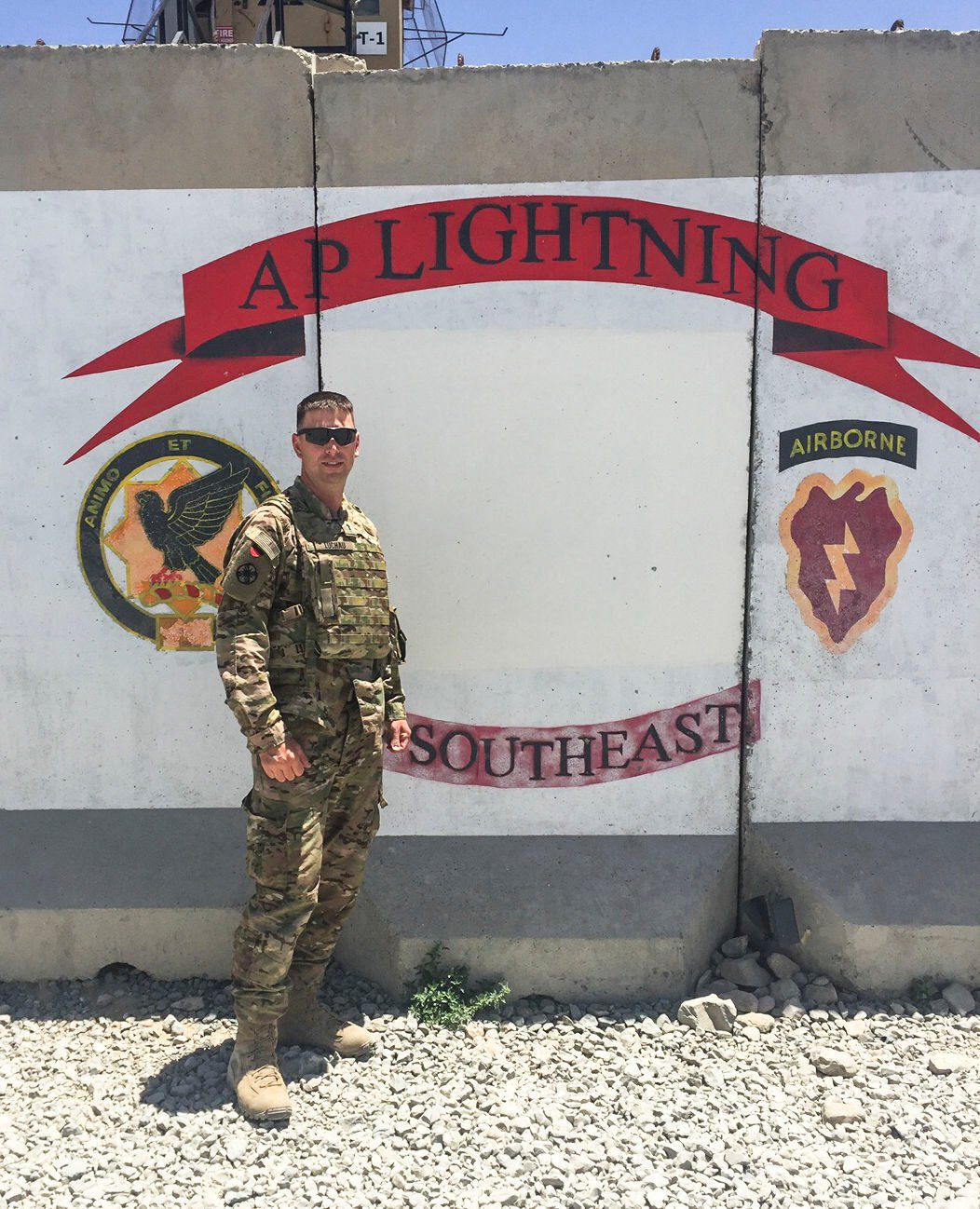 Chaplain Ryan Luchau of the Montana National Guard