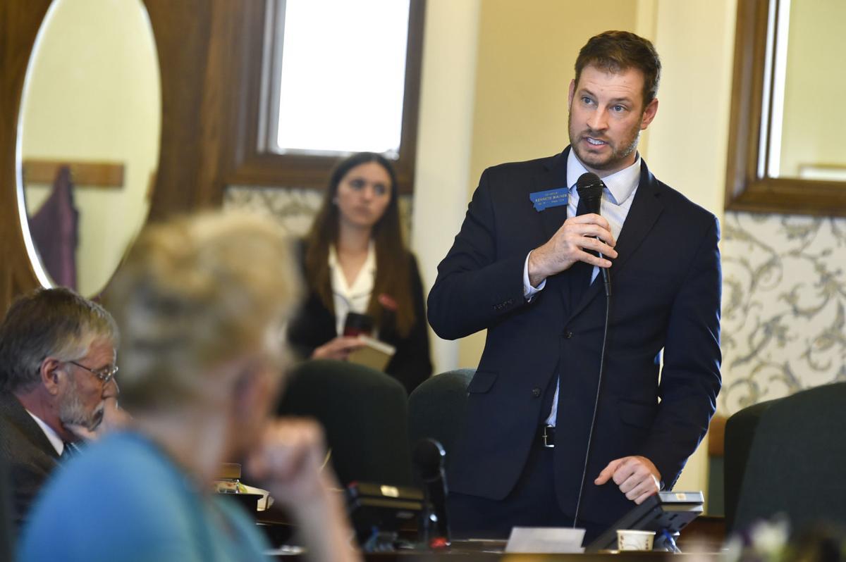 Sen. Kenneth Bogner, R-Miles City, speaks to a bill