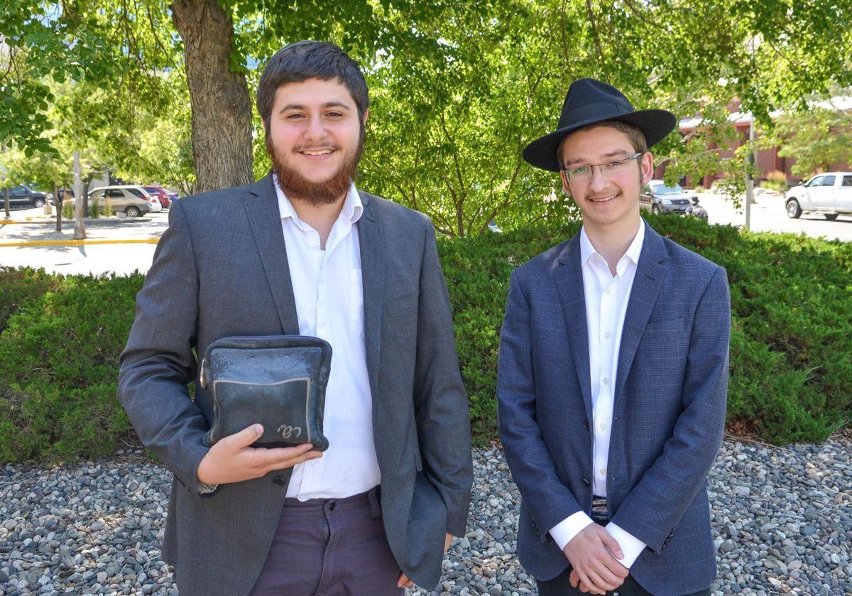 Rabbinical students JJ Polter, left, and Leibel Kaplan