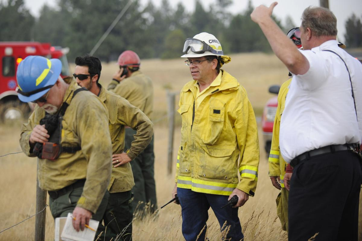 Retired Montana City Fire Chief Rick Abraham on the Holmes Gulch Fire, a lightning-caused fire south of Helena on Aug. 24, 2017.