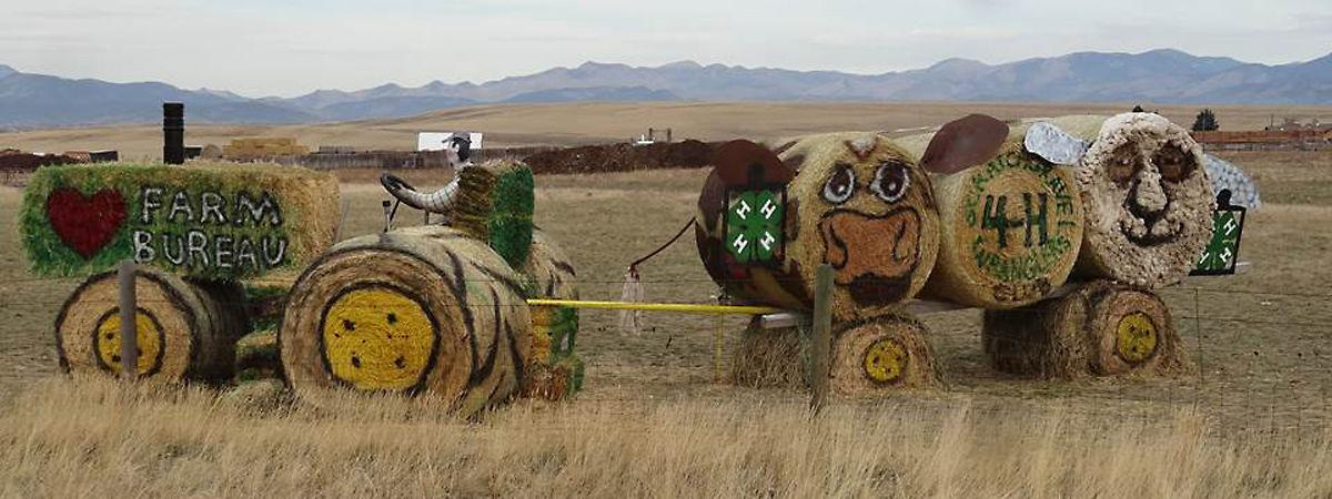 Hay sculpture contest