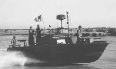 A River Patrol Boat during the Vietnam War