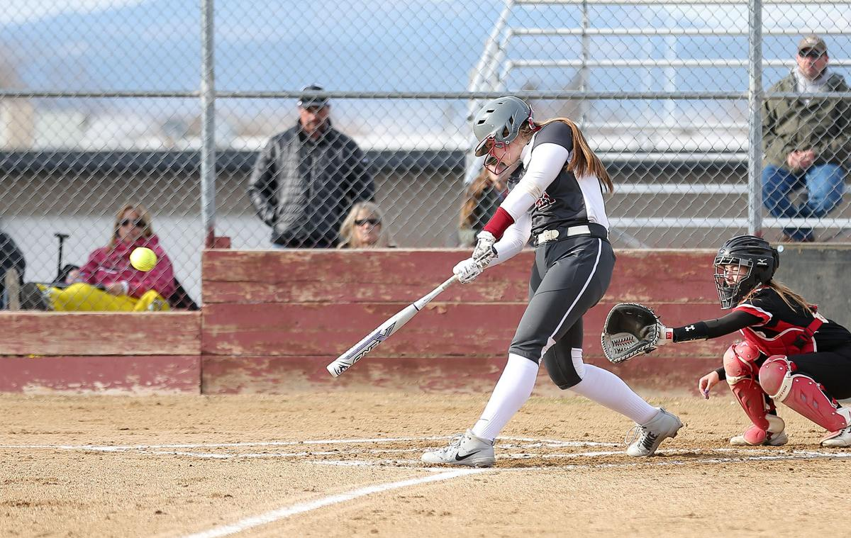 Helena High's Jamie Pickens hits a double
