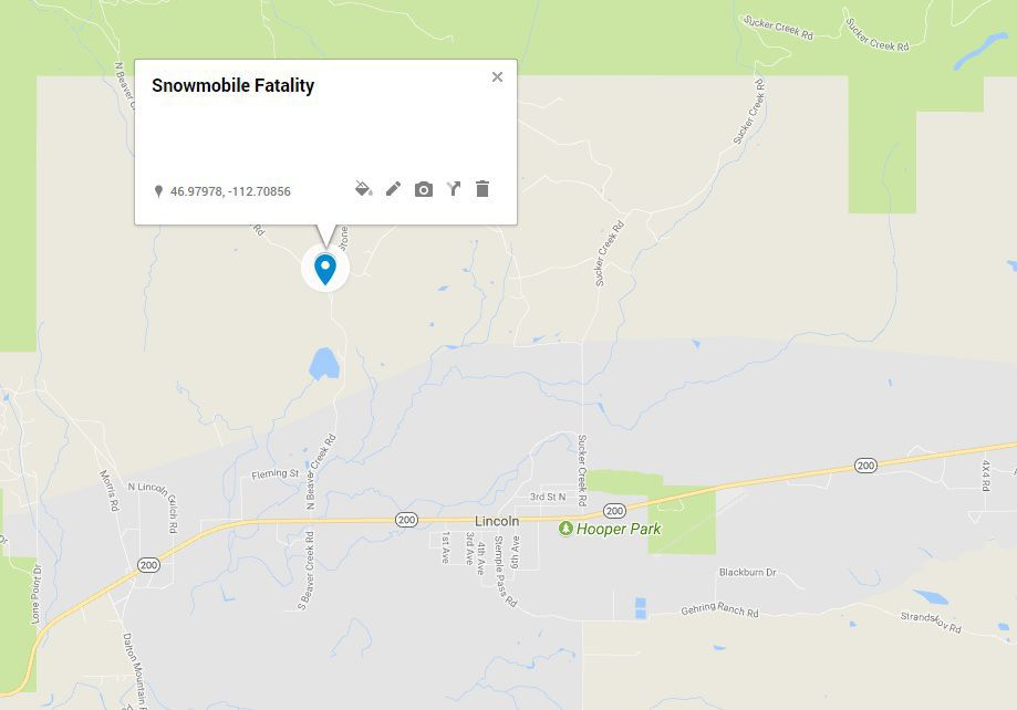 Snowmobile Fatality Map