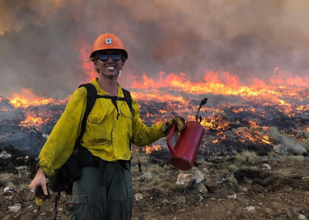 Sara Madsen, a firefighter with the Helena Hot Shot crew,