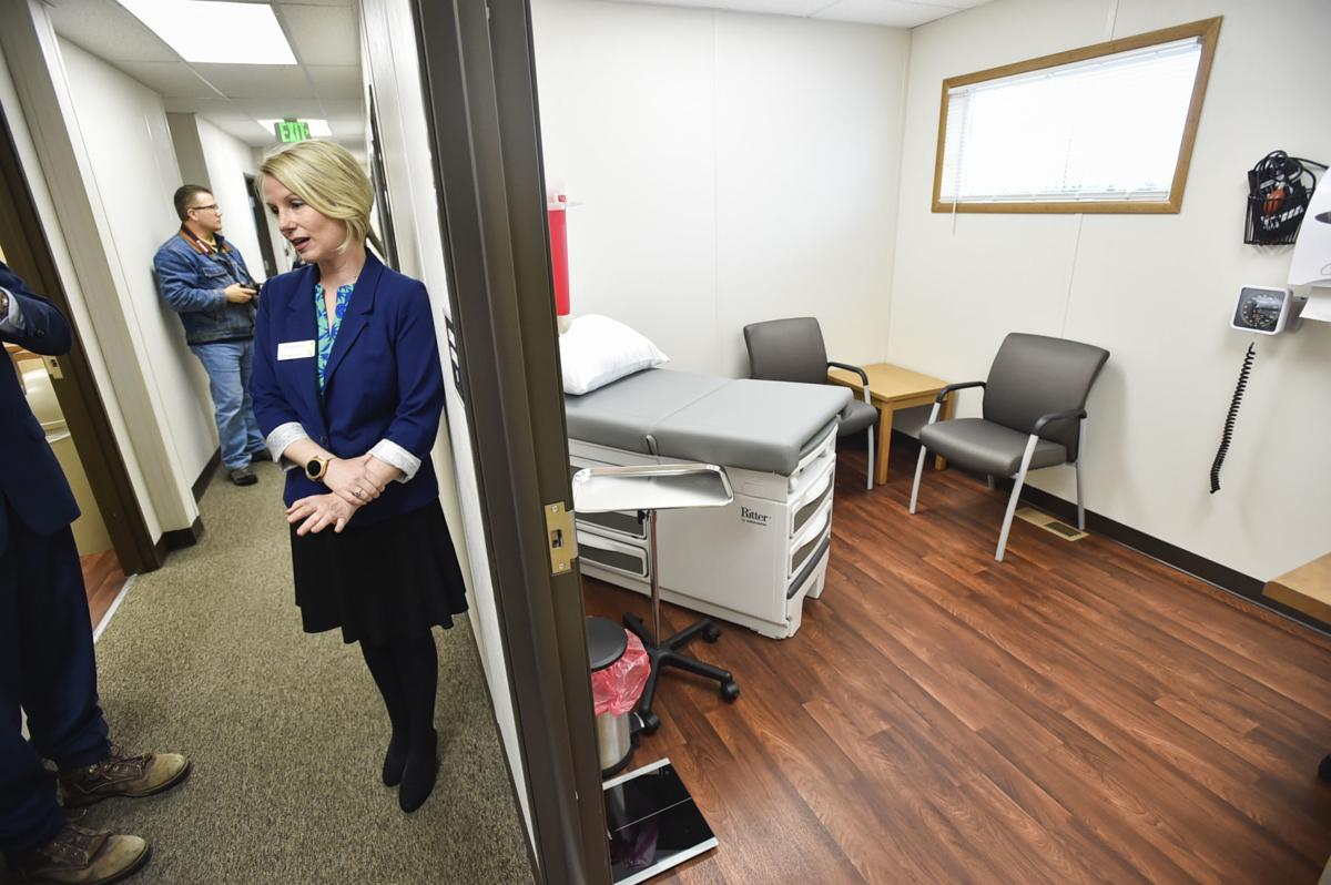 Jill Steeley, executive director of PureView Health Center gives a tour