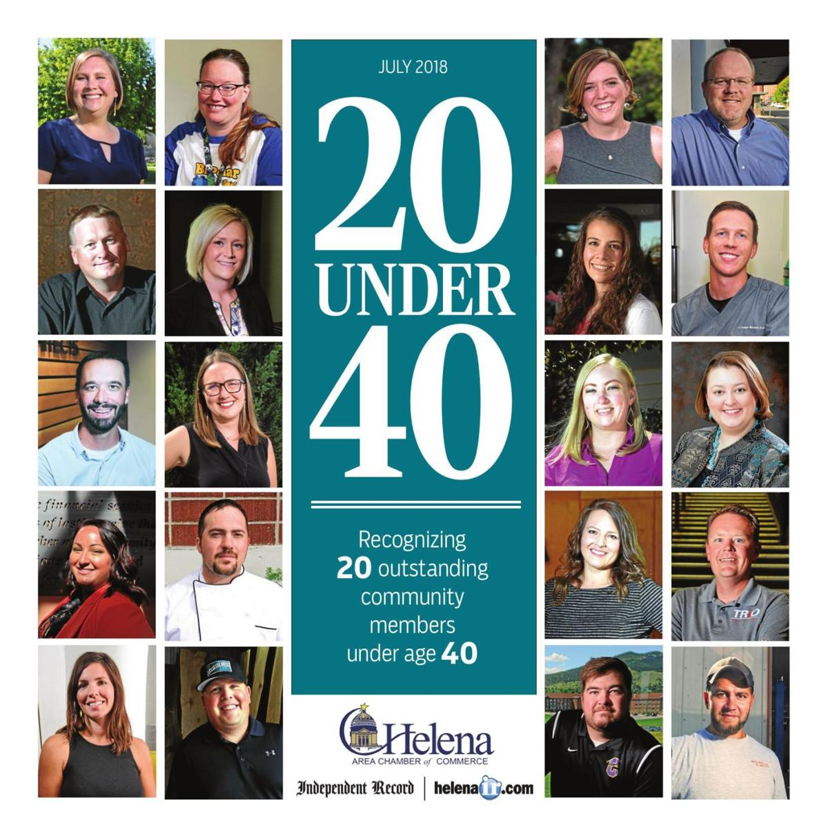 20 Under 40 - Recognizing 20 Outstanding Community Members Under Age 40 - July 2018